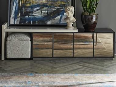 Universal Furniture Nina Magon Sand / Bronze Natural Sheepskin TV Stand UF941D964
