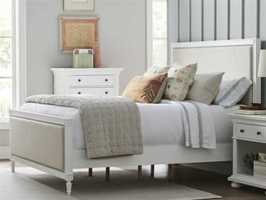 Universal Furniture White Queen Panel Bed UFU099H250B