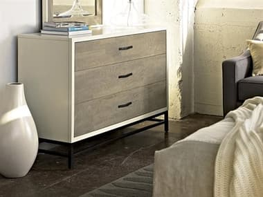 Universal Furniture The Spencer Bedroom Gray & Parchment Three-Drawers Single Dresser UF219040