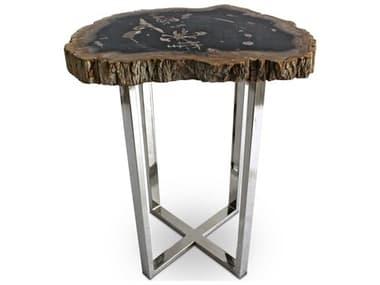 Urbia Eliza Natural Dark / Polished Chrome 18'' Wide End Table URBIPJELIZETDK
