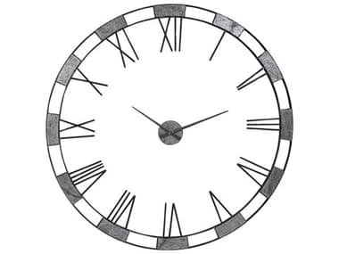 Uttermost Alistair Natural Slate / Gunmetal Wall Clocks UT06460