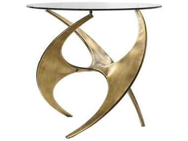 Uttermost Graciano 28 Round Antique Gold End Table UT24516