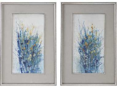 Uttermost Indigo Florals Framed Art (Set of Two) UT41558
