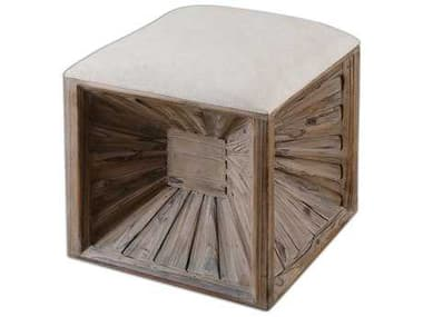 Uttermost Jia Wooden Ottoman UT23131