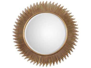 Uttermost Marlo 36 Round Gold Wall Mirror UT08137