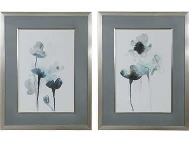Uttermost Midnight Blossoms Glass Wall Art UT33688