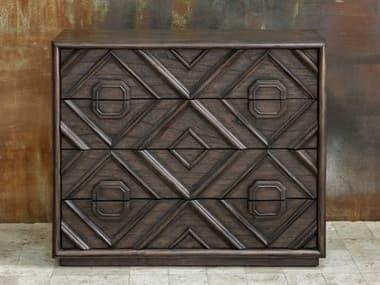Uttermost Mindra Deep Walnut 4 Drawers Dresser UT25458