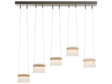 Vermont Modern Cowbell 40'' Wide Glass LED Island Light VMT136570