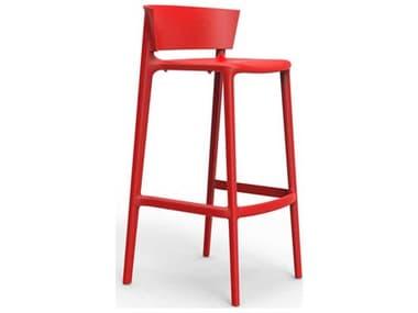 Vondom Africa Red Matte Side Bar Height Stool (Set of 4) VON65029RED