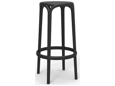 Vondom Brooklyn Black Matte Side Bar Height Stool (Set of 4) VON65027BLACK