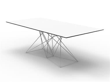 Vondom Faz White 78'' Wide Rectangular Dining Table VON54053WHITE