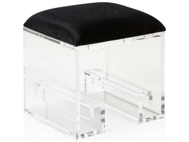 Wildwood Lamps Black / Clear Accent Stool WL490543