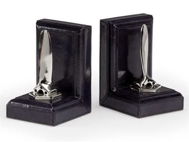 Wildwood Lamps Midnight Blue / Polished Nickel Bookends WL301859