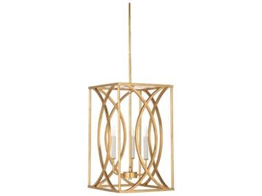 Wildwood Lamps Society Antique Gold Leaf 12'' Wide Medium Chandelier WL67182