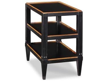 Woodbridge Furniture Swedish Antique Black / Tan Accent 14'' Wide Rectangular End Table WBF104630