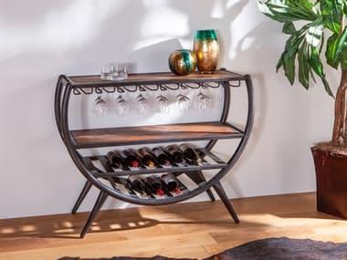 World Interiors Paxton Natural / Gray Zinc Wine Bar WITZWPXRDBR48