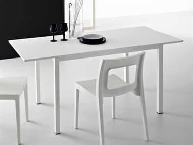 YumanMod Chic White Rectangular Extendable Dining Table YMSDP0102