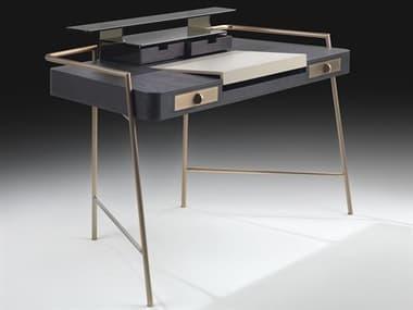 YumanMod Footse Dark Oak / Bronze Secretary Desk YMOR120101