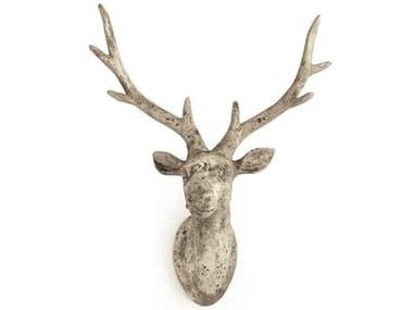 Zentique Distressed Grey Wash 17'' Wide Deer Head 3D Wall Art ZEN6552LA344