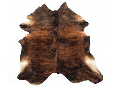 Zentique Exotic Dark Brown Area Rug ZENCOWHIDEED