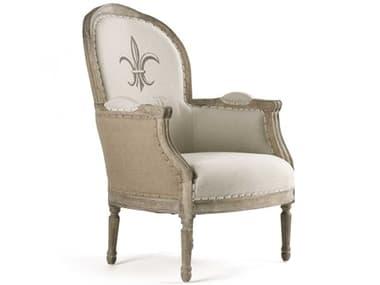 Zentique Lance Natural Linen Accent Chair ZENCFH185E2725BURLAP