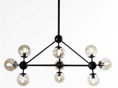 Zentique Cora Antique Black 38'' Wide Glass Medium Chandelier ZENSG10010