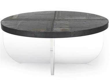 Zentique Timothy Rustic Galvanized Tin 42'' Wide Round Coffee Table ZENARC1005