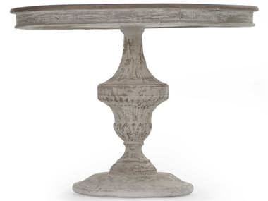 Zentique Jesse Natural / Distressed 39'' Wide Round Dining Table ZENLIS132592