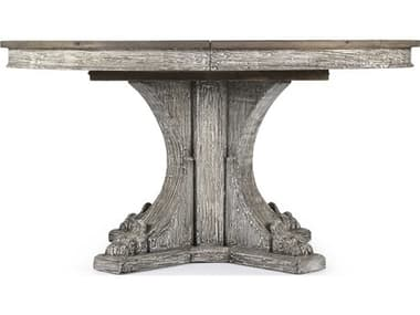 Zentique Terrell Weathered / Distressed Grey Washed 58'' Wide Round Dining Table ZENLISH1425107