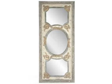 Zentique Theon Distressed Sage Greentique Cream 77''W x 34''H Floor Mirror ZENESM130641