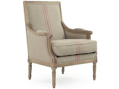 Zentique Louis Khaki / Red Stripe Accent Chair ZENB007E272A034REDSTRIPE