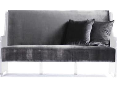 Zentique Grey Metallic Velvet Loveseat Sofa ZENZMA005
