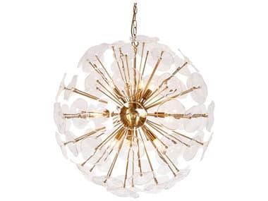 Zentique Petal Burst Gold 10-light 31'' Wide Glass Pendant ZENZD762910BR