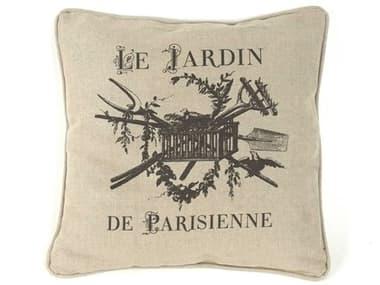 Zentique Linen 18'' x 18'' Vintage French Pillow ZENN025