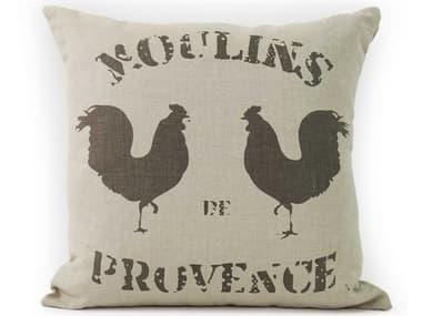 Zentique Natural 20'' x 20'' French Pillow ZENPILLOW10A00322