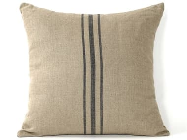 Zentique Khaki / Blue Stripe 24'' x 24'' Pillow ZENP112
