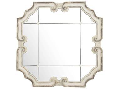 Zentique Troncon Distressed Ivory 40'' Wide Wall Mirror ZENEZM142425