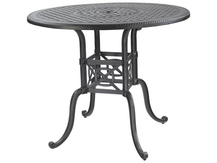 Gensun Grand Terrace Cast Aluminum 48, Round Gathering Table