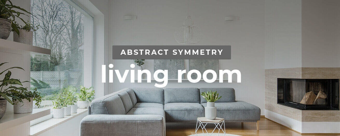 Abstract Symmetry Living Room