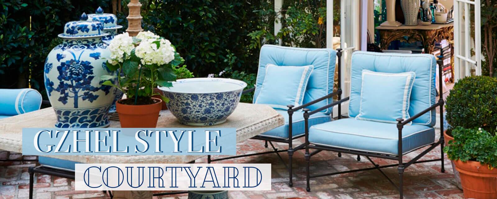 Gzhel Style | Courtyard