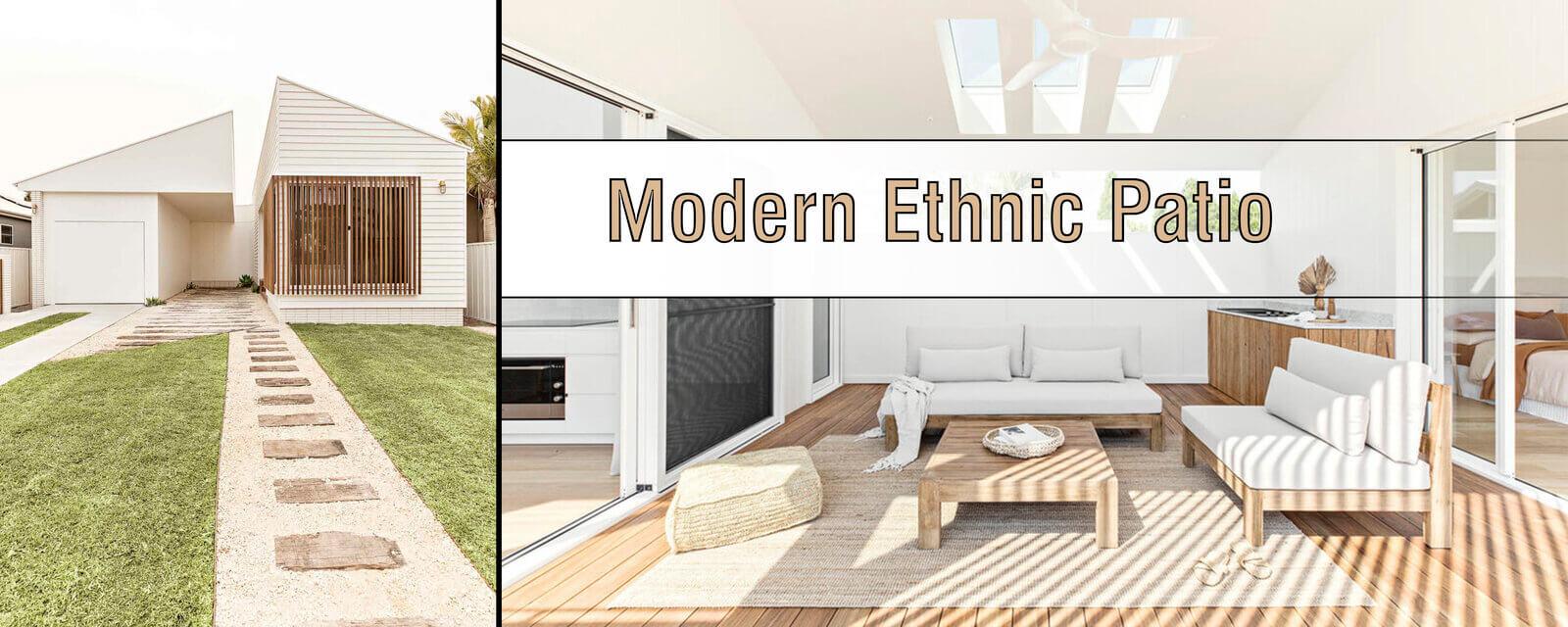 Modern Ethnic Patio