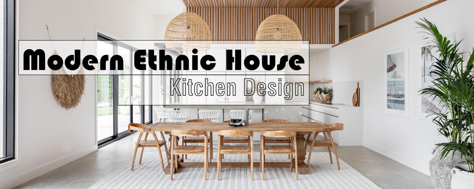 Modern Ethnic House | Kitchen Design