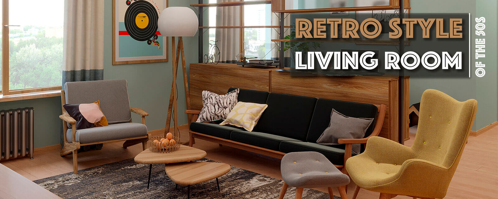 Retro Style Of The 50s | Living Room