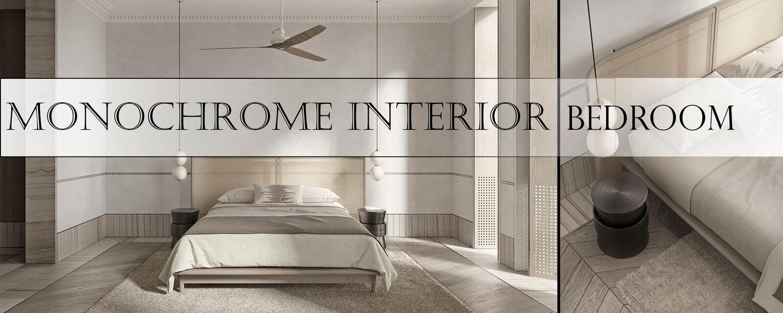 Monochrome Interior | Bedroom