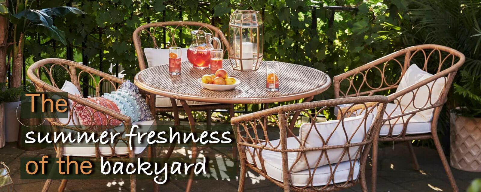 The Summer Freshness Of The Backyard