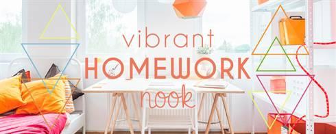 Vibrant Homework Nook