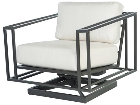 Ebel Capri Aluminum Swivel Rocker Lounge Chair with Aluminum Arms