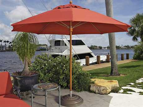 Fiberbuilt Augusta FiberTeak 9' Octagon Wood Umbrella
