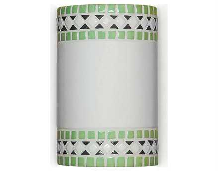 A19 Lighting Mosaic Borders Mint Green Wall Sconce