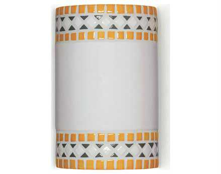 A19 Lighting Mosaic Borders Sunflower Yellow Wall Sconce